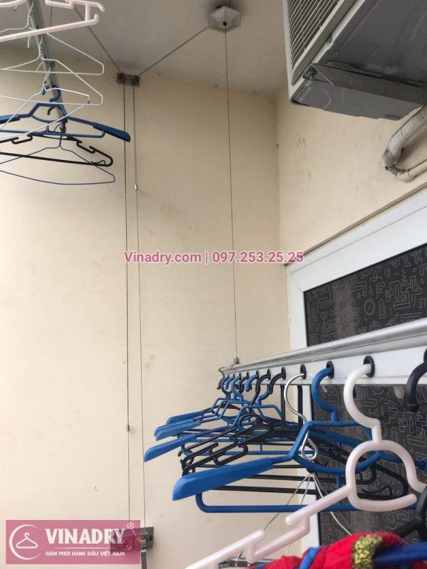 Thay bộ tời giàn phơi thông minh nhà chị Hoa ở chung cư Nam Đô, 609 Trương Định