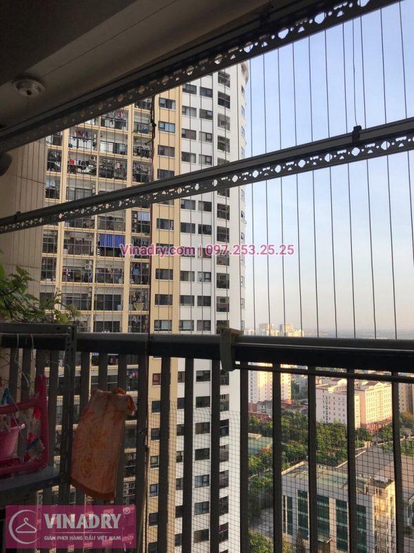 Thay dây cáp giàn phơi nhà bác Huy ở Kim Văn Kim Lũ, Hoàng Mai, Hà Nội