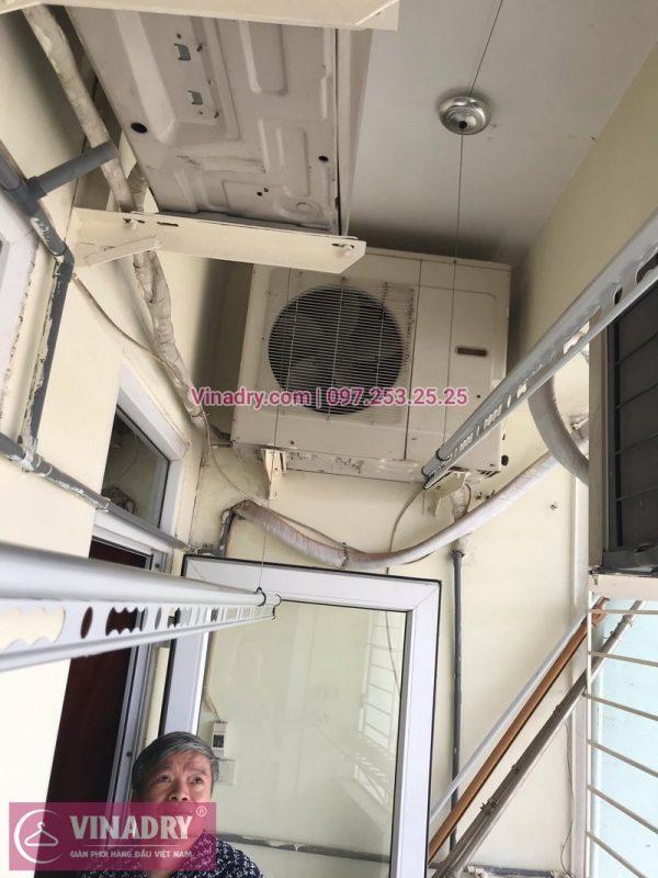 Lắp giàn phơi chống rối GP971 tặng kèm 1 dây cáp dự phòng tại nhà bác Hòa, Lạc Trung
