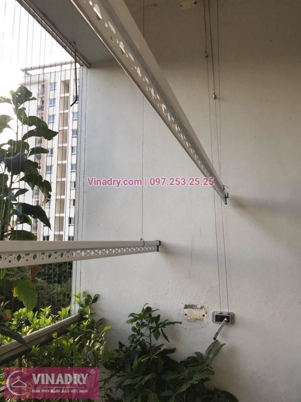 Lắp bộ giàn phơi giá rẻ HP368 tại căn 204, Tòa 15T1, 18 Tam Trinh nhà chị Thương