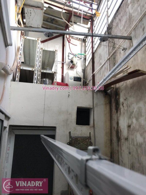 Lắp giàn phơi thông minh tại nhà chị Chi, đối diện trường THCS Thạch Cầu, Long Biên