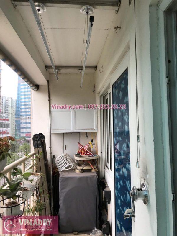 Lắp giàn phơi thông minh tại tòa nhà Vietcombank, phòng 407, nhà bác Đức