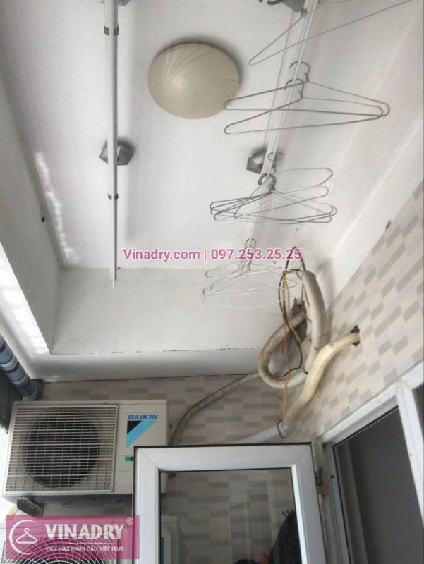 Sửa giàn phơi tại căn 1126, chung cư HH4C, Linh Đàm nhà chị Minh