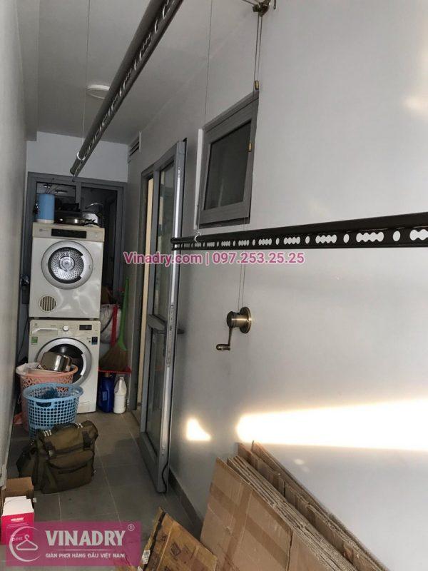 Lắp bộ giàn phơi thông minh HP902 tại nhà anh Đức, chung cư 360,Giải Phóng