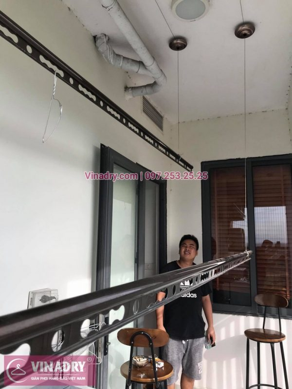 Sửa giàn phơi thông minh giá rẻ tại Phạm Văn Đồng, Từ Liêm, Hà Nội - Nhà chị Mai