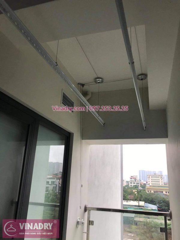 Lắp đặt giàn phơi Thanh Xuân: Bộ giàn phơi thông minh Hòa Phát KS980 tại nhà chú Đông - 01