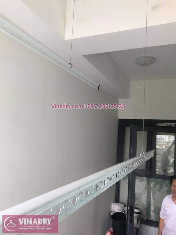 Lắp đặt giàn phơi Thanh Xuân: Bộ giàn phơi thông minh Hòa Phát KS980 tại nhà chú Đông - 03