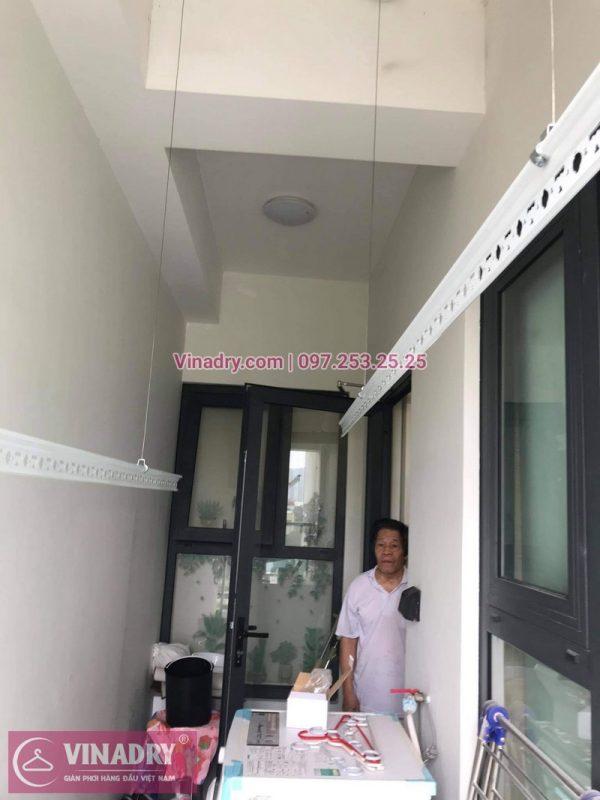 Lắp đặt giàn phơi Thanh Xuân: Bộ giàn phơi thông minh Hòa Phát KS980 tại nhà chú Đông - 02