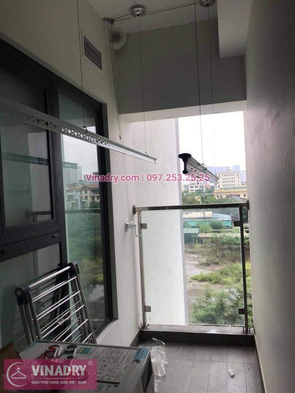 Lắp đặt giàn phơi Thanh Xuân: Bộ giàn phơi thông minh Hòa Phát KS980 tại nhà chú Đông - 04