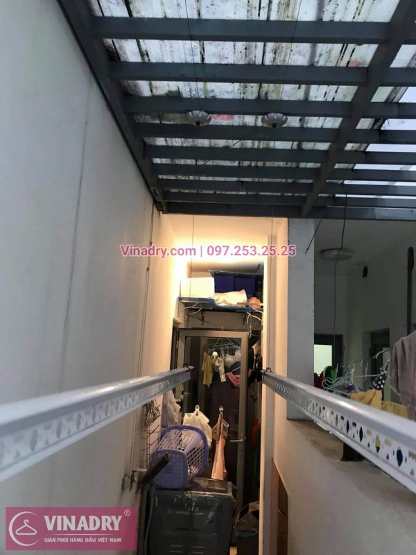 Thay dây, bộ tời giàn phơi thông minh giá rẻ tại Chung cư Time City: nhà chị Hoa