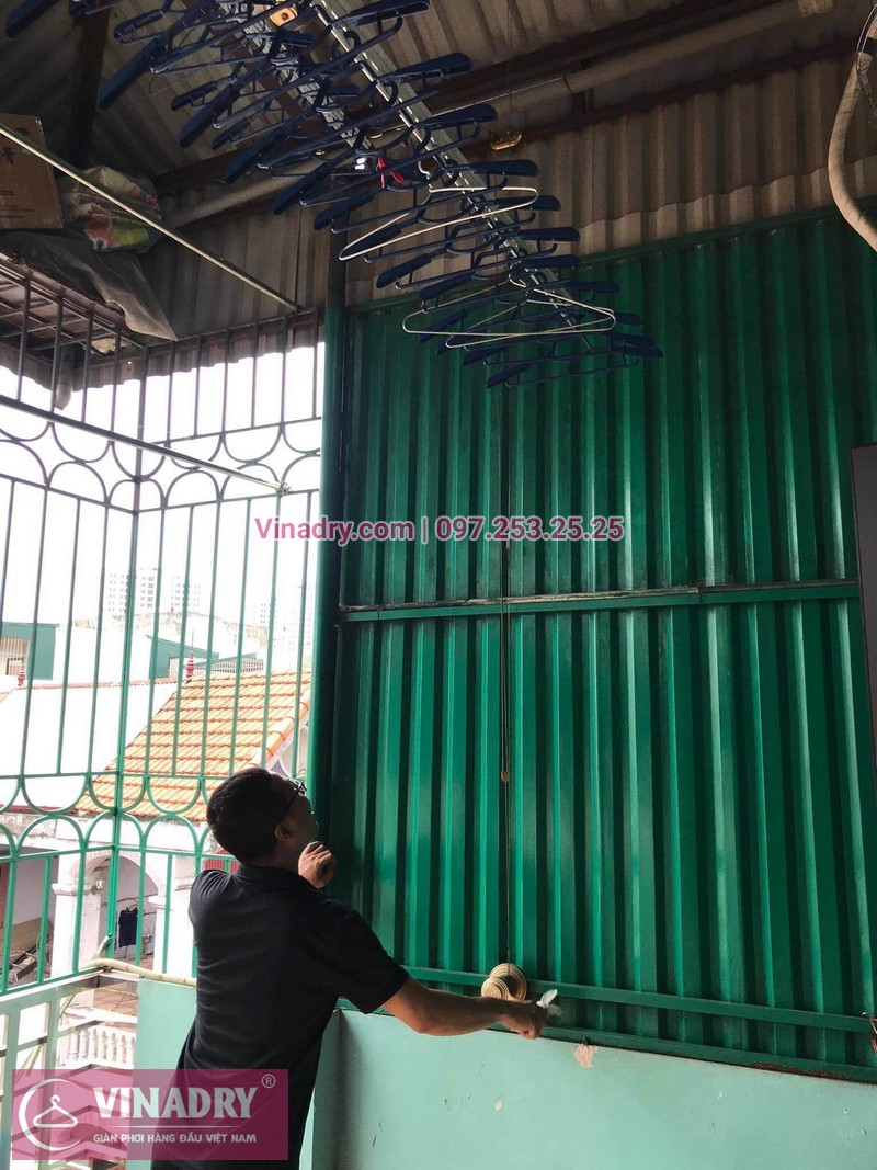 Bảo dưỡng giàn phơi thông minh tại Định Công, Hoàng Mai: nhà chị Minh