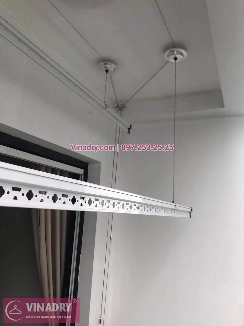 Lắp giàn phơi Hòa Phát HP701 giá rẻ tại KĐT Times city, nhà chị Hoa-01