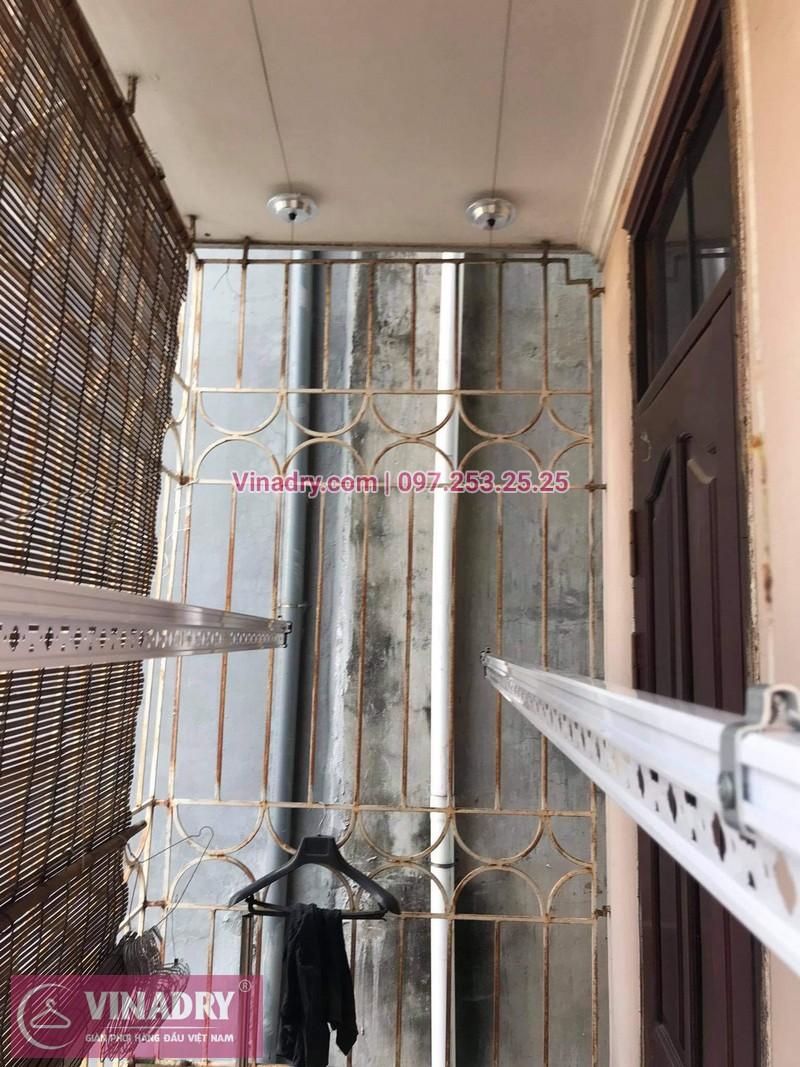 Lắp giàn phơi thông minh tại Tây Hồ, Hà Nội: nhà chị Hồng