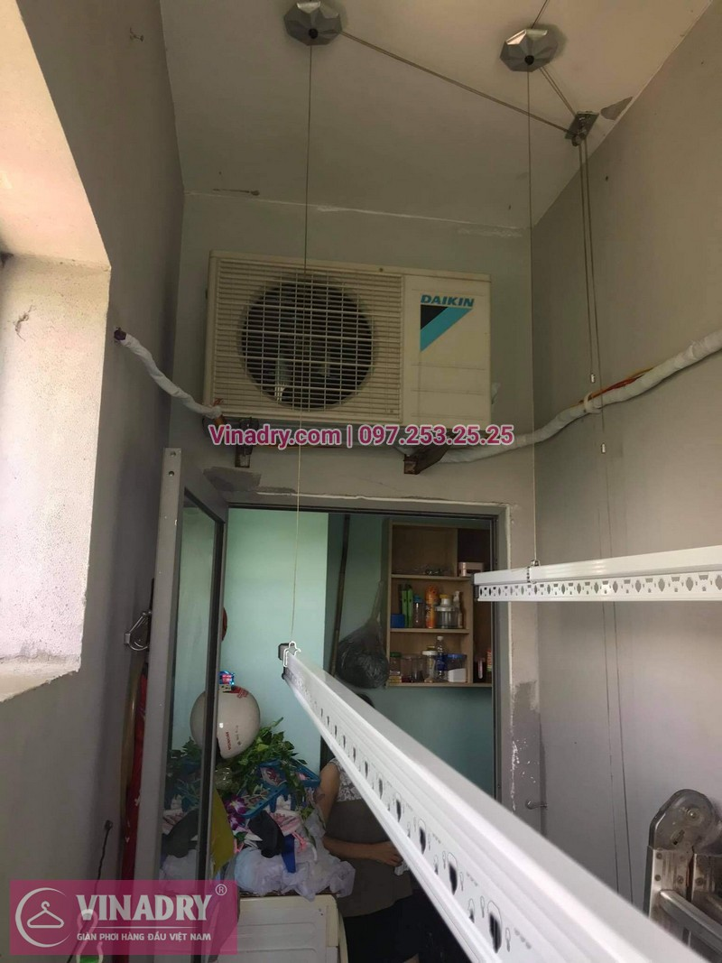 Lắp giàn phơi thông minh Hà Đông: bộ HP999B tại chung cư 18T5, KĐT Kiến Hưng -01