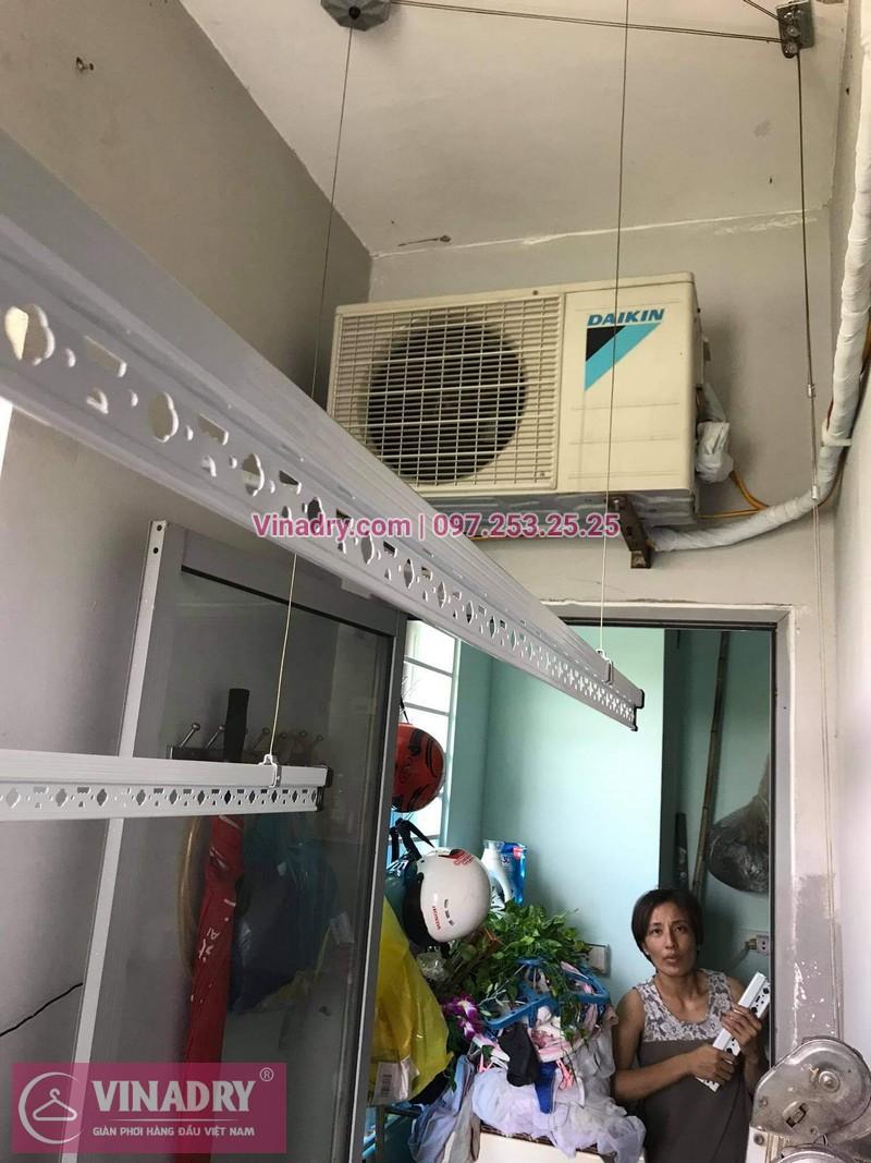 Lắp giàn phơi thông minh Hà Đông: tại nhà chị Nhung