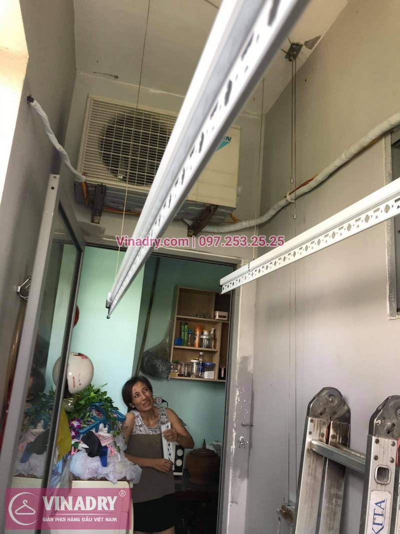 Lắp giàn phơi thông minh Hà Đông: bộ HP999B tại chung cư 18T5, KĐT Kiến Hưng -02