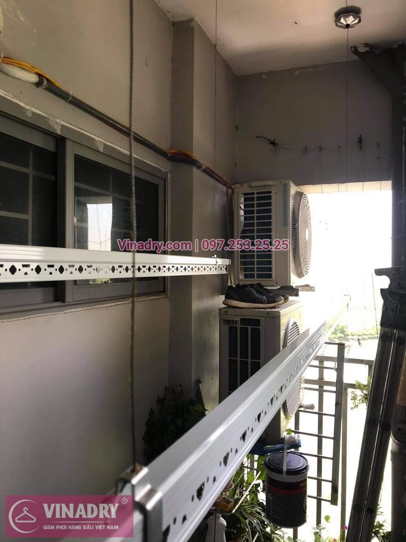 Lắp giàn phơi thông minh Hà Đông: bộ HP999B tại chung cư 18T5, KĐT Kiến Hưng -04