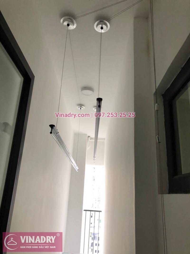 Lắp đặt giàn phơi thông minh kèm lưới ban công tại Mỹ Đình: Nhà chị Minh, chung cư Iris Garden - 01