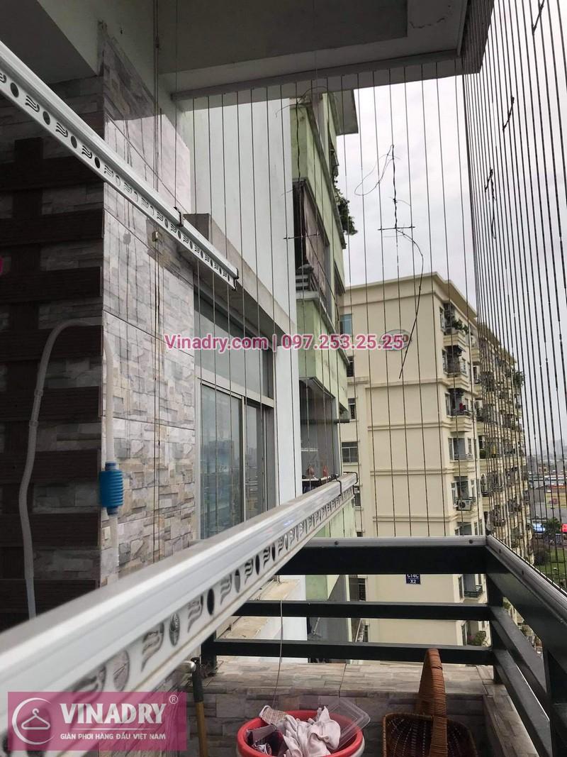 Sửa giàn phơi thông minh tại Bắc Linh Đàm, Hoàng Mai, Hà Nội nhà anh Nho, chung cư CT4 X2 - 04