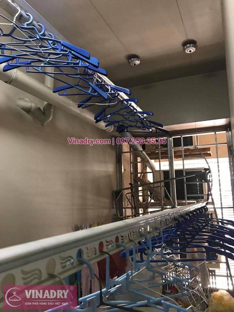 Sửa giàn phơi Cầu Giấy: Thay dây và tay quay tại nhà chị Hồng, chung cư Udic Complex, Hoàng Đạo Thúy - 01