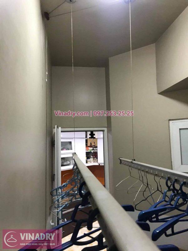 Sửa giàn phơi Cầu Giấy: Thay dây và tay quay tại nhà chị Hồng, chung cư Udic Complex - 02