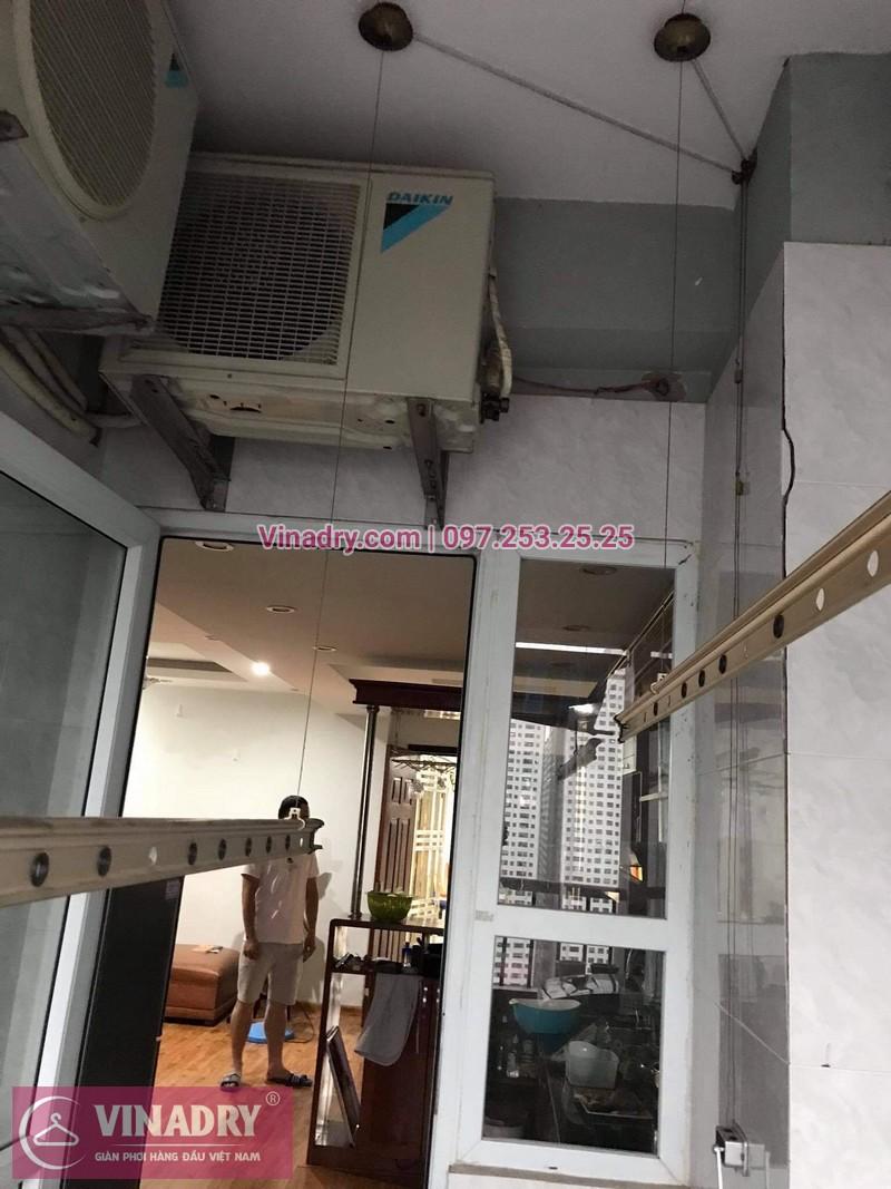 Sửa giàn phơi giá rẻ tại bán đảo Linh Đàm: nhà chị Nhung - 03