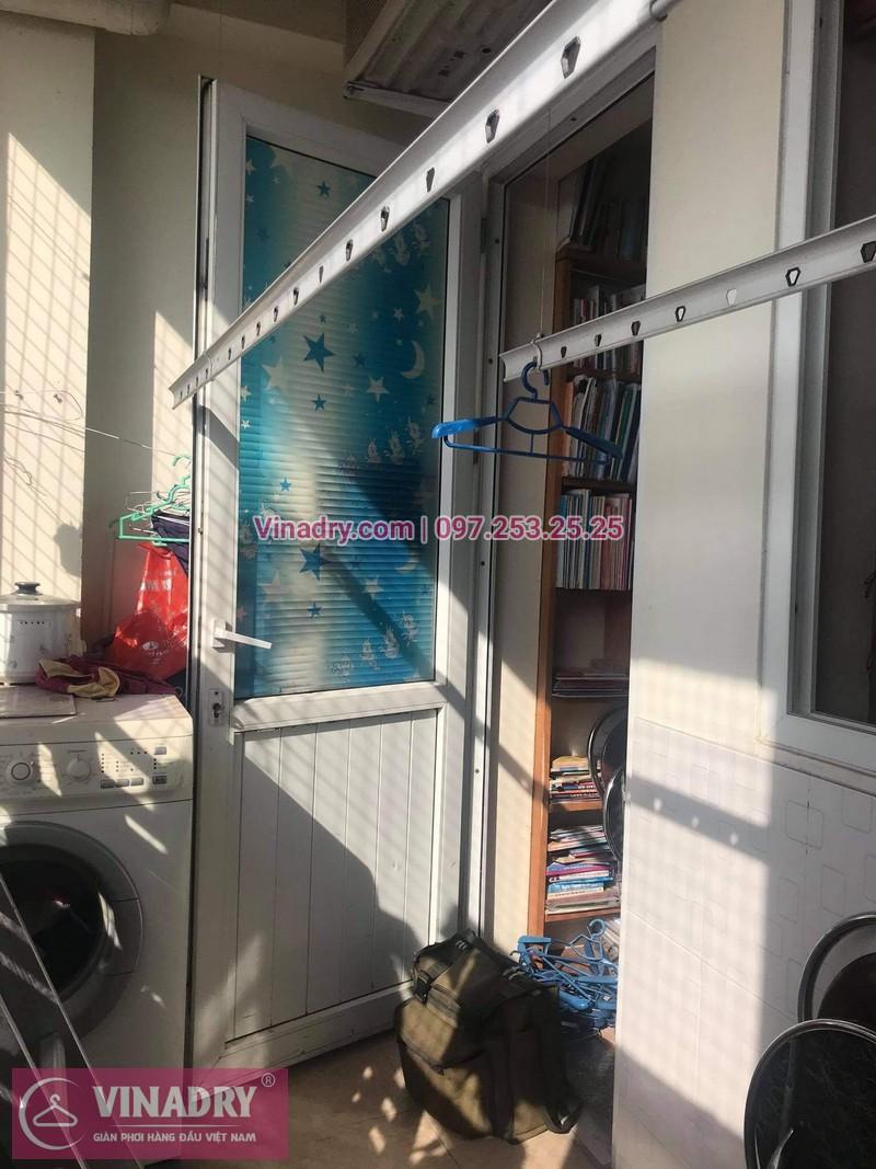 Sửa giàn phơi Hà Đông: Thay dây, buli giàn phơi tại nhà chị Thúy - 02