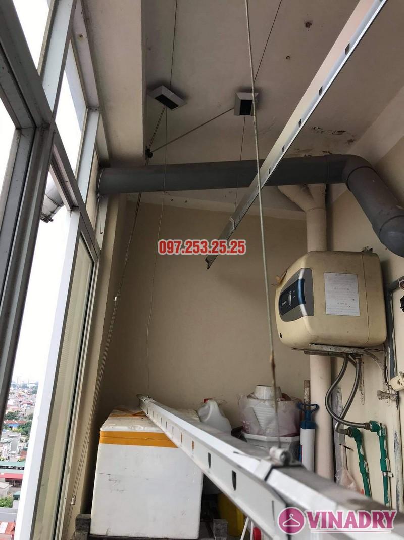 Thay dây cáp giàn phơi thông minh tại Long Biên nhà chị Tú, chung cư học viện hậu cần - 01
