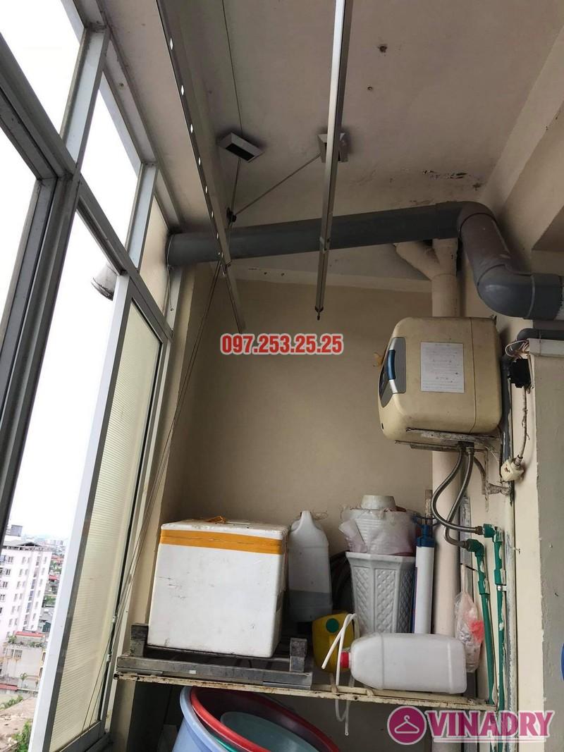 Thay dây cáp giàn phơi thông minh tại Long Biên nhà chị Tú, chung cư học viện hậu cần - 03