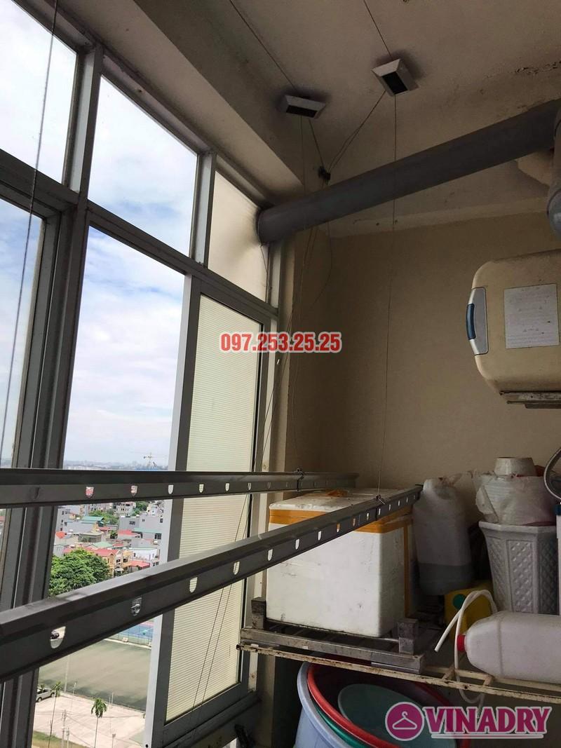 Thay dây cáp giàn phơi thông minh tại Long Biên nhà chị Tú, chung cư học viện hậu cần - 04