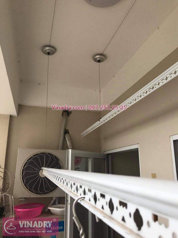 Sửa giàn phơi Long Biên: thay dây cáp giàn phơi tại nhà chị Thúy - 03