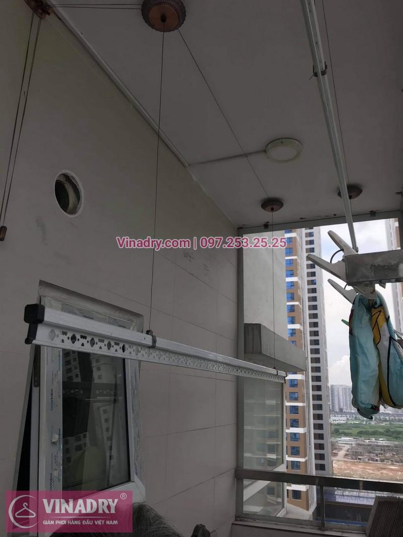 Sửa giàn phơi quần áo Tây Hồ, Hà Nội: Thay dây cáp tại chung cư Học viện Quốc Phòng, nhà bác Trung - 01