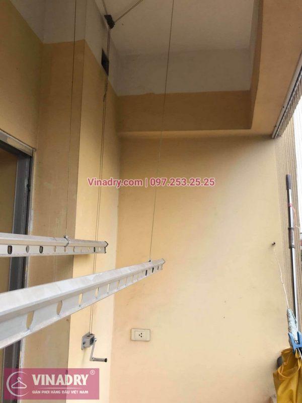 Sửa giàn phơi thông minh giá rẻ tại Hoàng Mai, Hà Nội: nhà chị Phương, chung cư N3