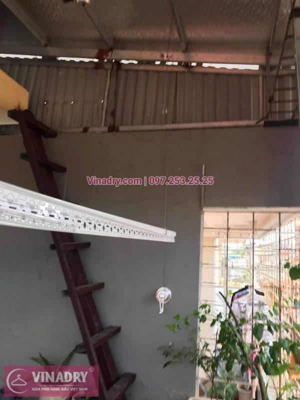 Thay đổit vị trí và thay dây cáp giàn phơi thông minh tại nhà chị Bắc ở Hoàng Mai, Hà Nội