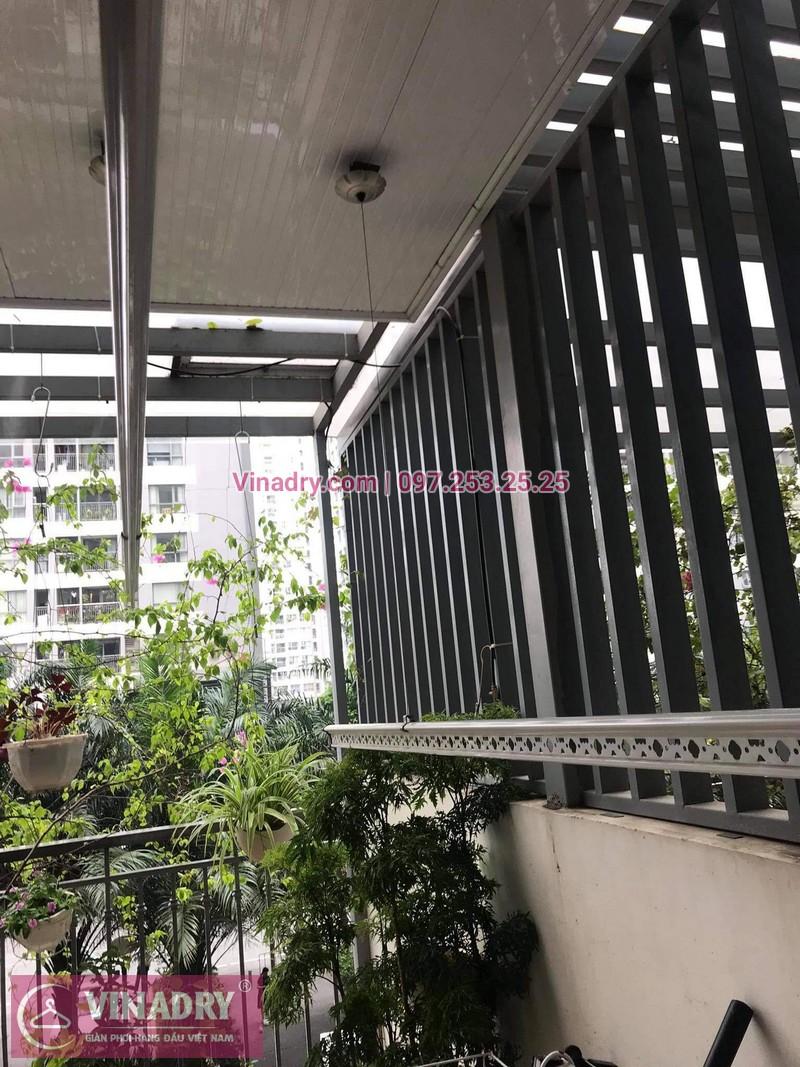 Sửa giàn phơi thông minh Times city: nhà anh Hòa, Park3 - 03