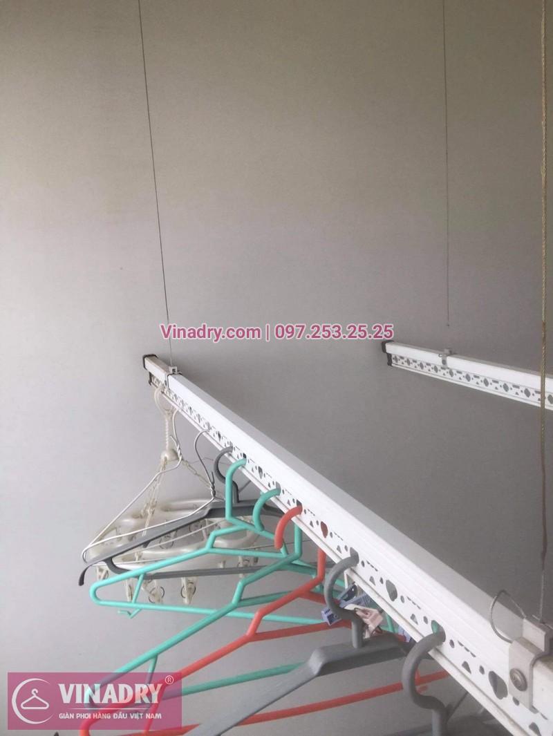 Sửa giàn phơi giá rẻ tại Linh Đàm: Thay dây cáp nhà anh Hưng - 01