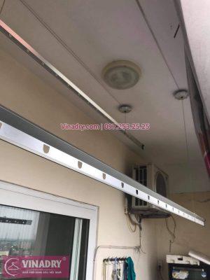 Sửa giàn phơi Trương Định, Hoàng Mai, Hà Nội: thay dây cáp nhà chị Mai, chung cư Nam Đô