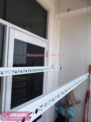 Hình ảnh thực tế bộ giàn phơi Hòa Phát Star KS950 lắp tại nhà anh Định, Hoài Đức, Hà Nội