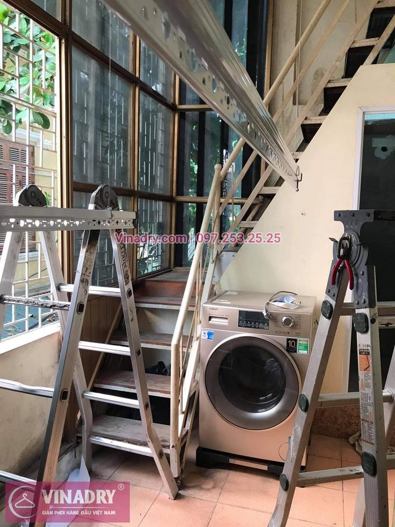 Lắp bộ giàn phơi Hòa Phát HP368 giá rẻ tại nhà chị Cúc - 05