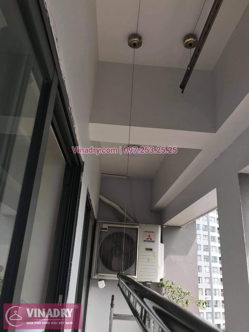 Lắp giàn phơi chung cư Sunshine Palace, Hoàng Mai: Bộ GP941 tại nhà chị Bích - 04