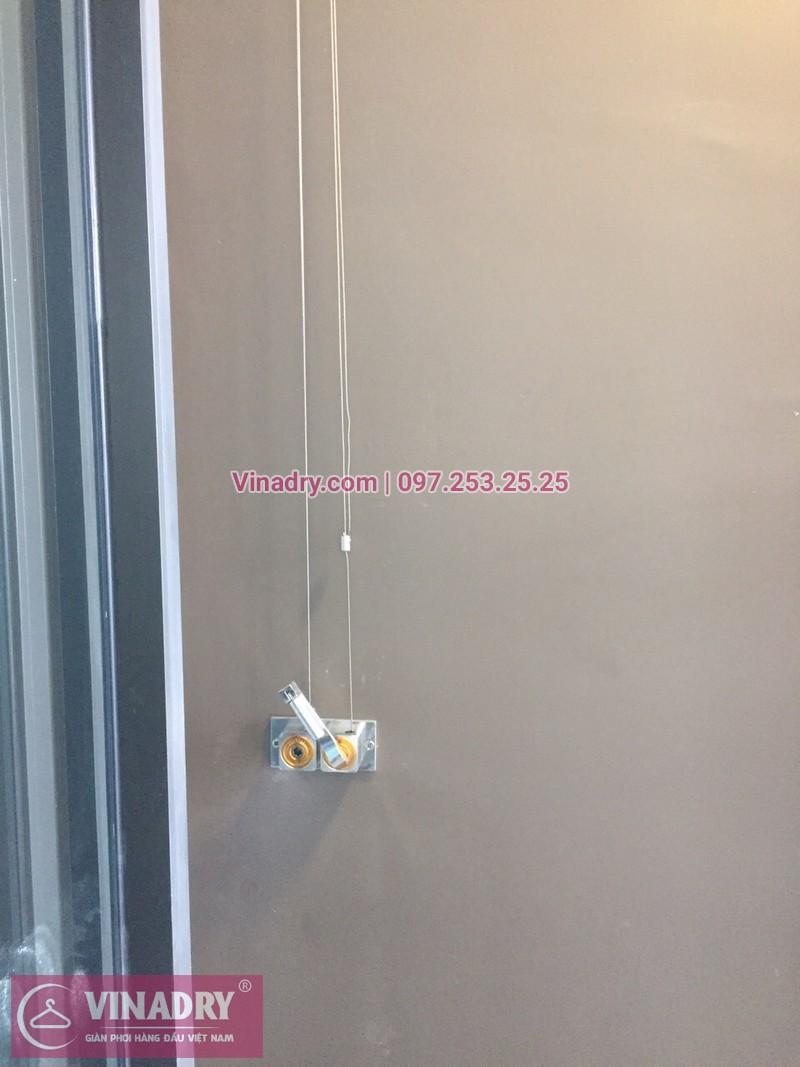 Lắp giàn phơi kèm lưới an toàn ban công tại Ocean Park 02, anh Hưng - 04
