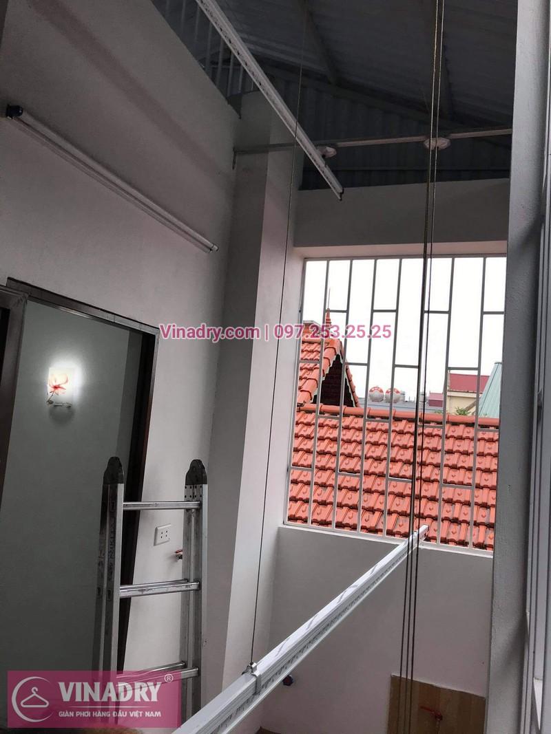 Lắp giàn phơi Long Biên: bộ KS950 tại nhà chị Vân - 02