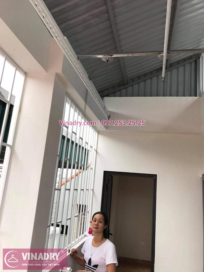 Lắp giàn phơi Long Biên: bộ KS950 tại nhà chị Vân - 03