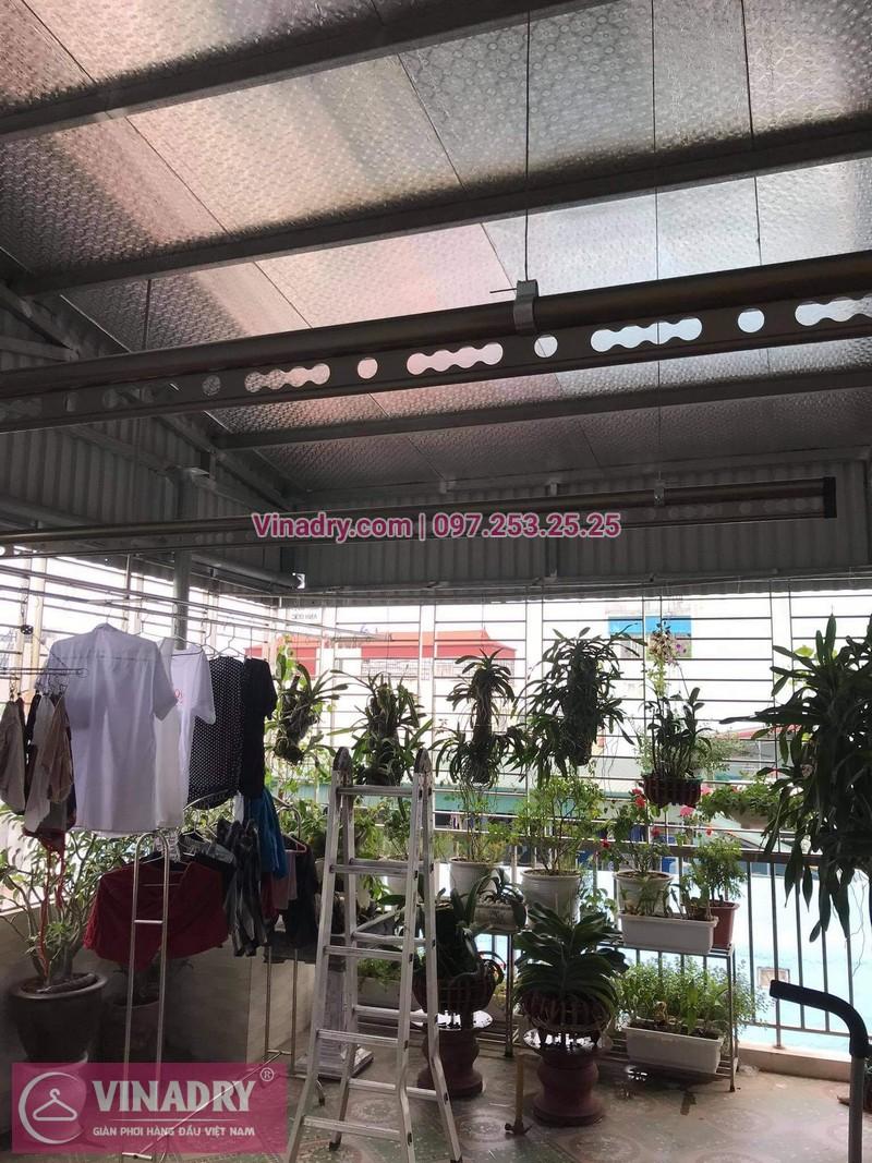 Lắp giàn phơi thông minh tại Đống Đa, Hà Nội: nhà chị Hồng, Hào Nam - 02