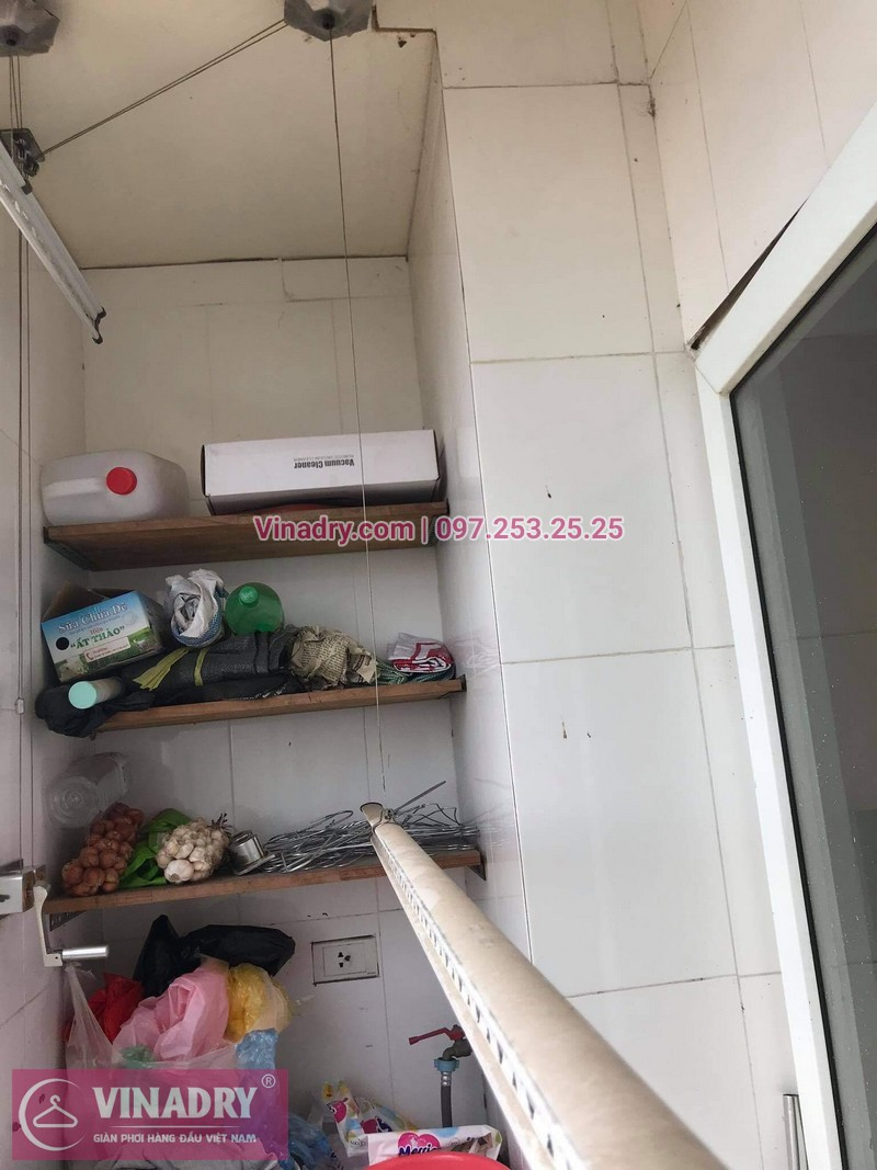 Sửa giàn phơi Hoàng Mai, Hà Nội: Chung cư Vật tư Du lịch - nhà anh Hùng