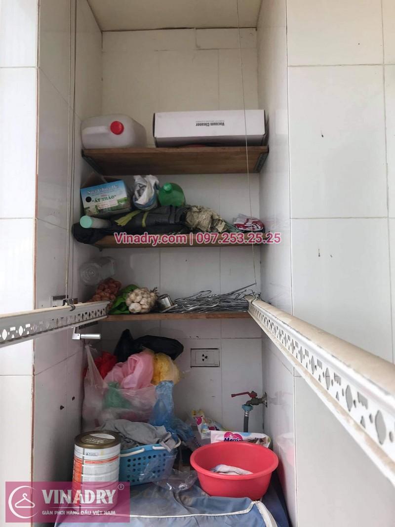 Sửa giàn phơi Hoàng Mai, Hà Nội: Chung cư Vật tư Du lịch - nhà anh Hùng- 02
