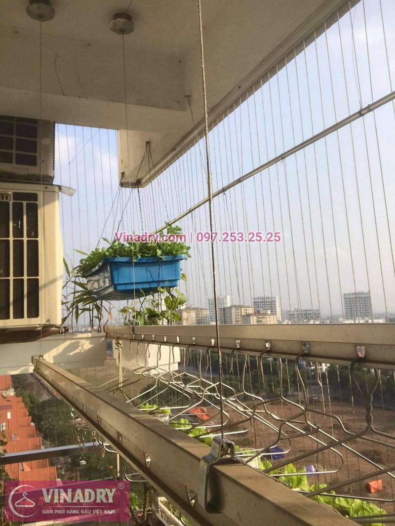 Sưả giàn phơi Việt Hưng Long Biên: thay bộ tời Hòa Phát HP999B cho nhà chị Quế - 05