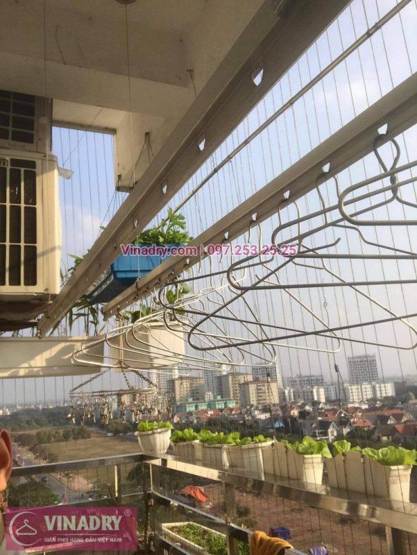 Sửa giàn phơi Việt Hưng Long Biên: thay bộ tời Hòa Phát HP999B cho nhà chị Quế - 07
