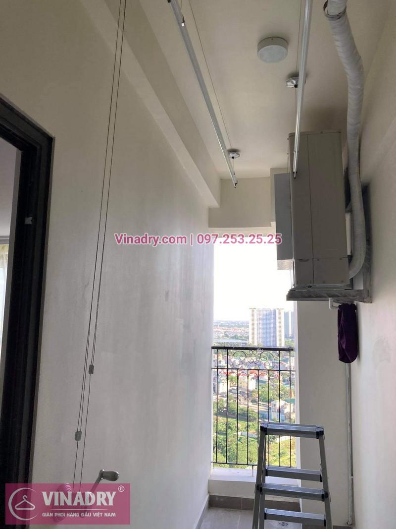 KS950 lắp tại logia chung cư cực kỳ gọn gàng và sang trọng
