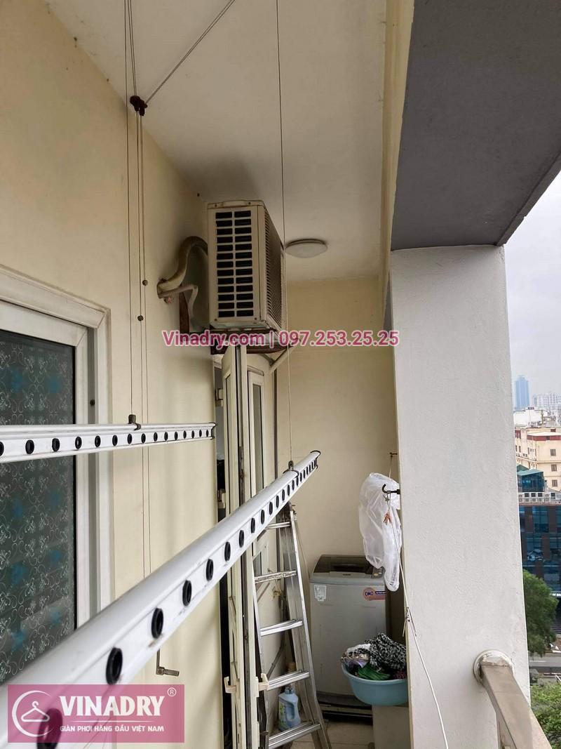 Hình ảnh sửa giàn phơi tại Đống Đa nhà anh Bình, chung cư Sunrise Tower - 01